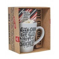 Warme Chocolade Melk Geschenkdoos - Rood/Zwart