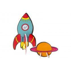 3D space rocket/panet