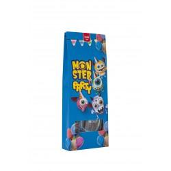 15 stuks - Traktatie pakket monster blauw